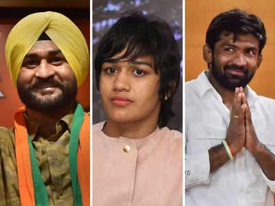 चुनाव में बीजेपी ने तीन ओलंपियन्स पर दांव खेला है
