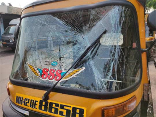पुण्यातील रामटेकडी परिसरात अज्ञातांकडून गाड्यांची तोडफोड