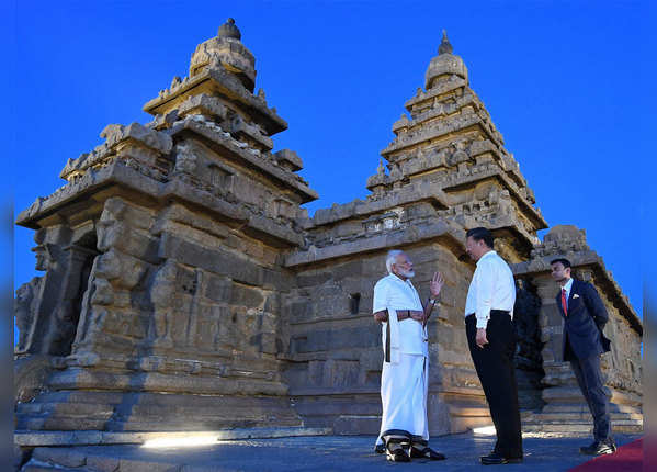 मंदिर के स्थापत्य कला की PM ने दी जानकारी