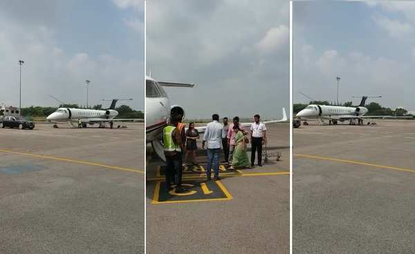 chiranjeevi and his wife leave to amaravati to meet ap cm ys jagan