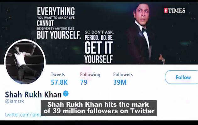 ट्विटर पर फॉलोअर्स की संख्या में शाहरुख ने बिग बी को पीछे छोड़ा