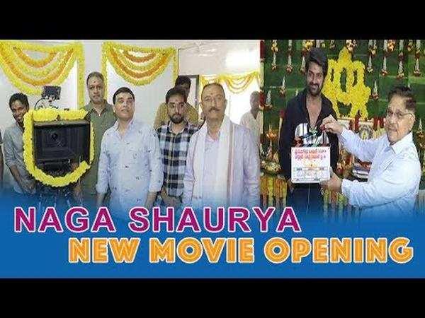 hero naga shaurya new movie opening video