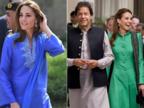 सूट, सलवार और दुपट्टा....पाकिस्तान में केट का 'देसी लुक'