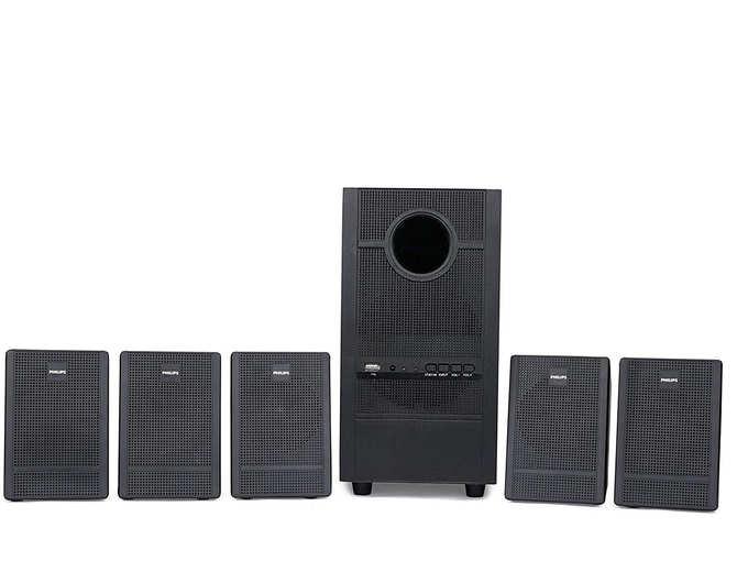 Philips Heartbeat SPA-3000U 94 5.1 Channel Multimedia Speaker System