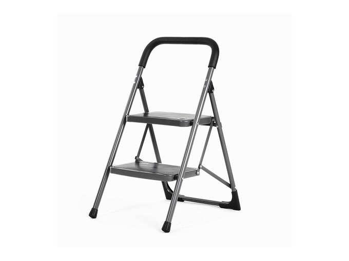 Bathla Boost 2-Step Foldable Steel Ladders with Anti-Slip Steps
