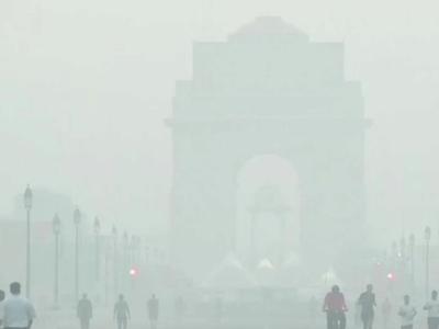 इंडिया गेट पर प्रदूषण