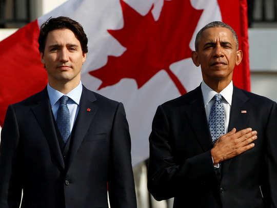 ट्रूडो के लिए ओबामा की अपील