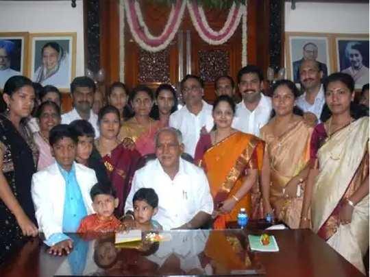 yediyurappa with family
