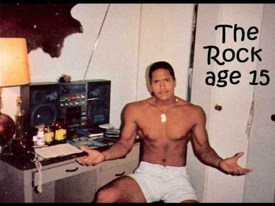 the rock age 15 picture 2019