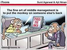 the fine art of middle management is to put the monkey on someone elses back telugu cartoon jokes