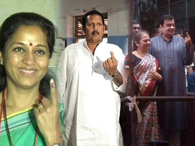 दिग्गज नेत्यांनी बजावला मतदानाचा हक्क
