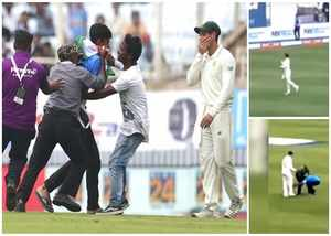 fan entered field to meet quinton de kock during india vs south africa ranchi test watch video