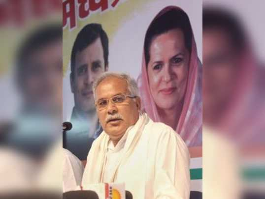 Bhopal: Chhattisgarh Chief Minister Bhupesh Baghel addreses the media at the Con...