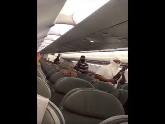 Plane hijack drill