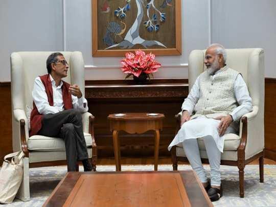 PM Modi abhijit banerjee meet