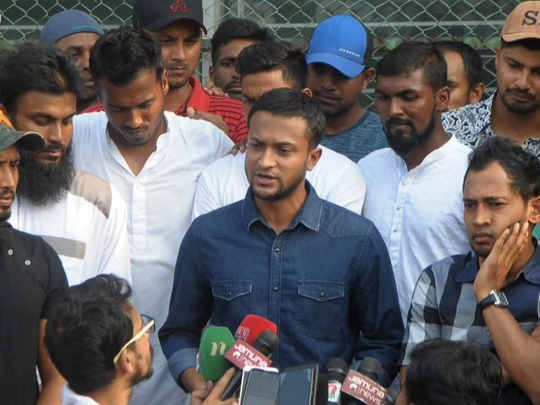 shakib al hasan on bangla strike 2019