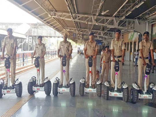 சென்னை சென்ட்ரல் ரோந்து பணிக்காக செக்வே ஸ்கூட்டர்கள் அறிமுகம்