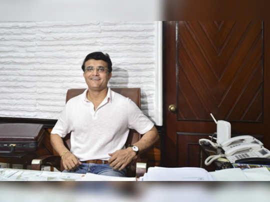 Kolkata: BCCI President-designate Sourav Ganguly seated in his chamber at Cricke...