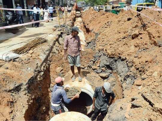 road digging