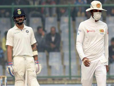 भारत vs श्रीलंका- फिरोजशाह कोटला टेस्ट मैच का एक दृश्य