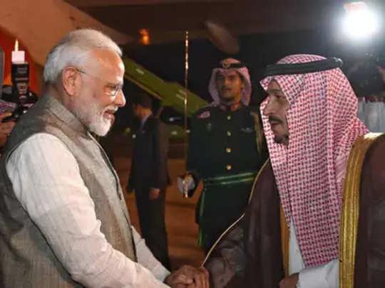 मोदी सौदी अरबमध्ये; प्रिन्सशी चर्चा करणार
