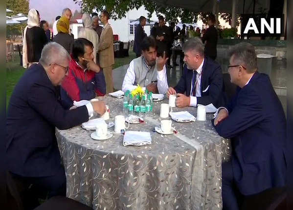 पंचायत सदस्यों से भी मिले यूरोपीय सांसद