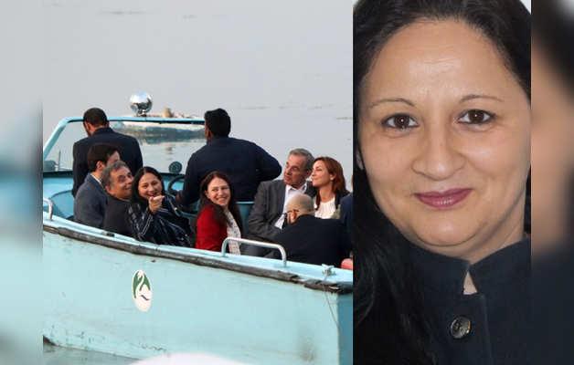 डल झील में EU सांसद और मादी शर्मा