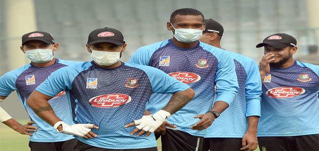 Ind vs Ban: पहले T20 से पहले बांग्लादेश की टीम ने दिल्ली में मास्क पहन की प्रैक्टिस