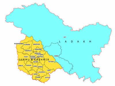 ऐसा है केंद्र शासित प्रदेश जम्मू-कश्मीर और लद्दाख का नया नक्शा
