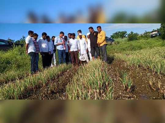 रोहित पवार यांचा शेतकऱ्यांशी संवाद