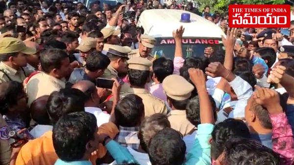 mro murder employees protest in hyderabad