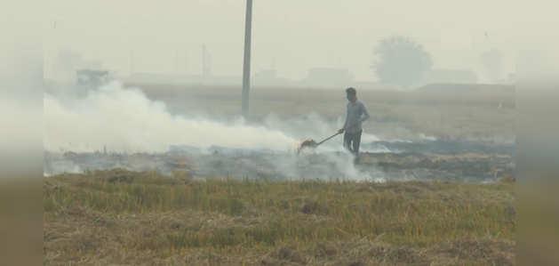 वायु  गुणवत्ता 'गंभीर' श्रेणी में होने के बावजूद लुधियाना में पराली जलाना जारी