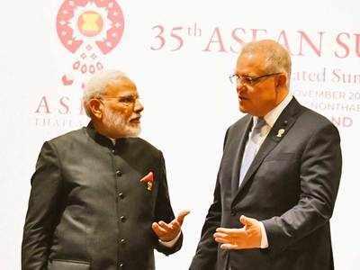 ऑस्ट्रेलिया के पीएम स्कॉट मॉरिसन के साथ प्रधानमंत्री मोदी