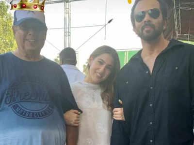 डेविड और रोहित के साथ सारा