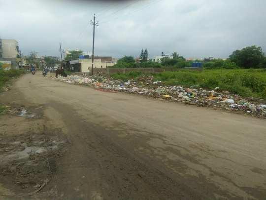 Garbage On road