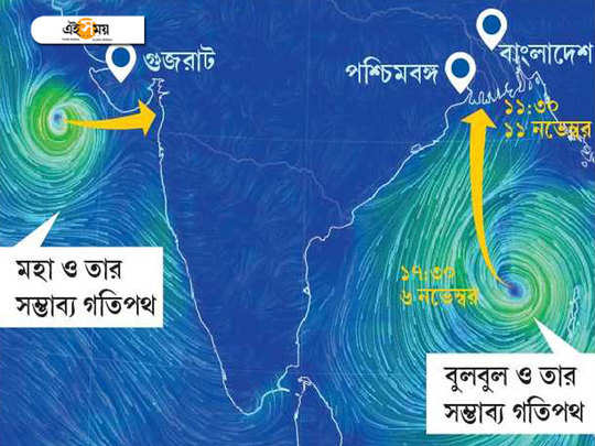 Cyclone Bulbul is coming near west Bengal on Monday