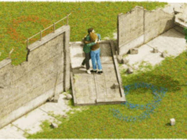 बर्लिन की दीवार गिरने की 30वीं ऐनिवर्सरी पर Google Doodle