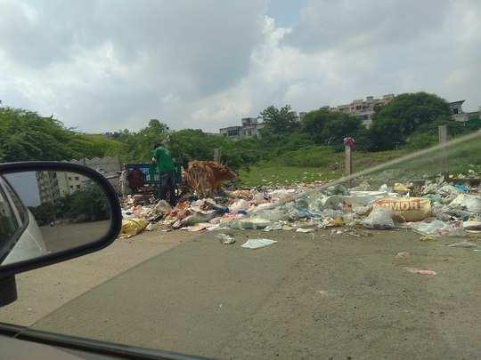 कचऱ्याच्या ढीगाने नागरिकांना त्रास