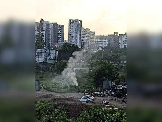 बेकायदा कचरा जाळणे