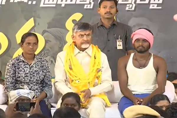 tdp president chandrababu deeksha in vijayawada