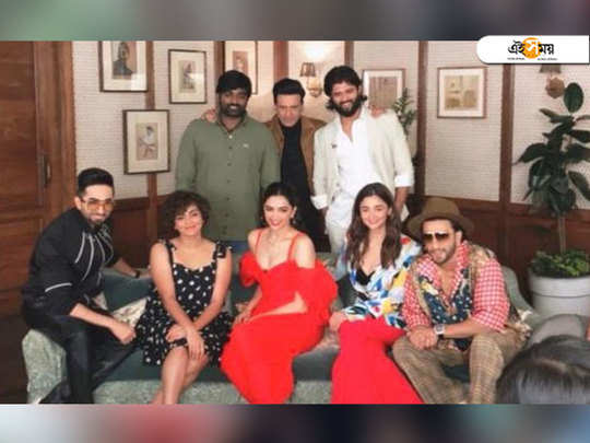 pic-frameBollywood stars Ayushmann Khurrana, Alia Bhatt, Deepika-Ranveer along with south superstars Vijay Sethupathi, Vijay Deverakonda captured in a rare frame together in a media event