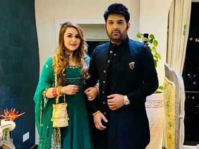 कपिल शर्मा और उनकी पत्नी गिन्नी चतरथ