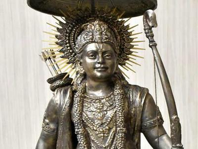 राम प्रतिमा पर काम शुरू