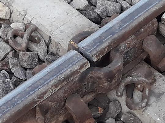 railway tracks broken