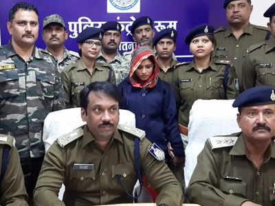 पुलिस ने घेराबंदी करके साधना पटेल को किया गिरफ्तार
