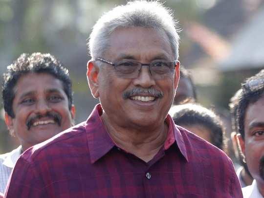 गोटबाया राजपक्षे श्रीलंकेचे नवे अध्यक्ष