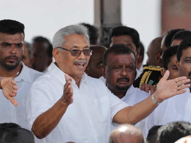 श्रीलंका के नए राष्ट्रपति गोटबाया राजपक्षे।