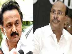 pmk founder challenged with dmk leader mk stalin