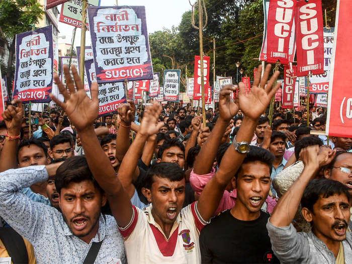 एनआरसी के खिलाफ असम में प्रदर्शन