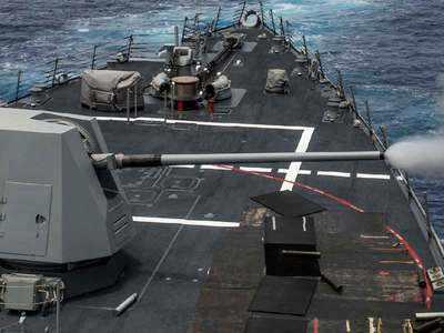13 एमके-45 पांच इंच/ 62 कैलिबर तोप
